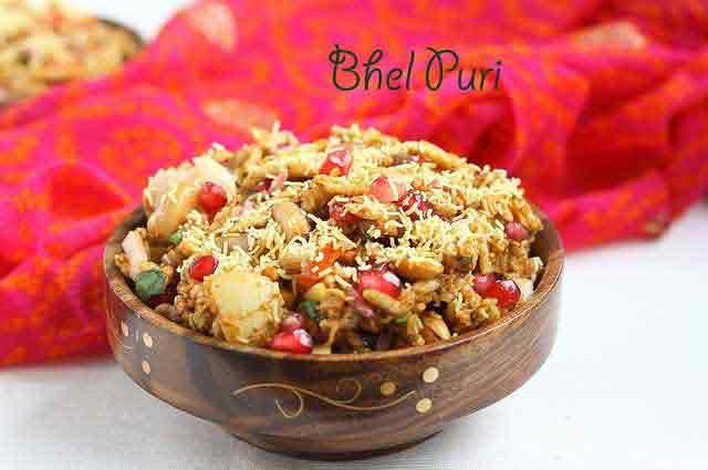 Bhel puri as party snack