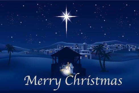 Merry Christmas Night Sky Image