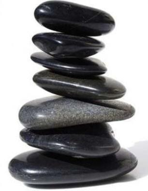 Shiny Black Flat Stones for Stone Game