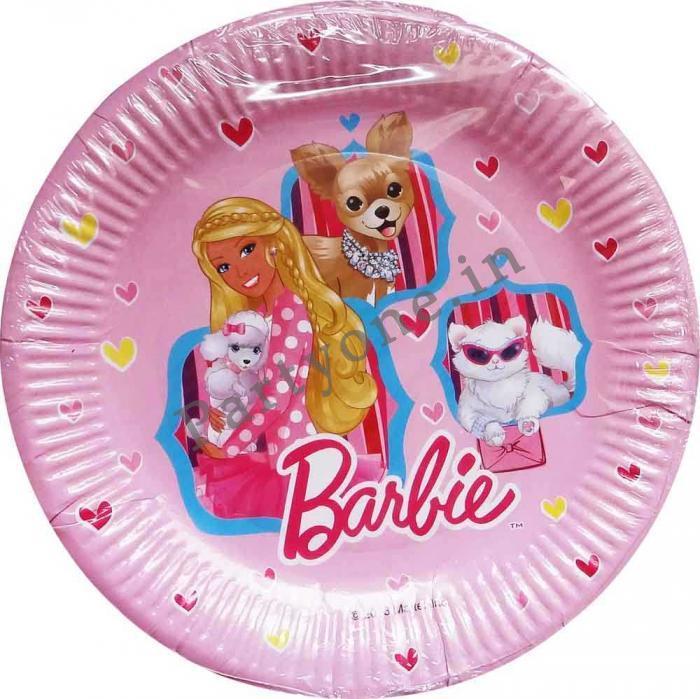 Barbie Large Paper Plates Set Of 8 - 22 Cms (d) Birthday Party Supplies  sc 1 st  PartyOne & Barbie Large Paper Plates Set Of 8 - 22 Cms (d)-P1PC0001164 |
