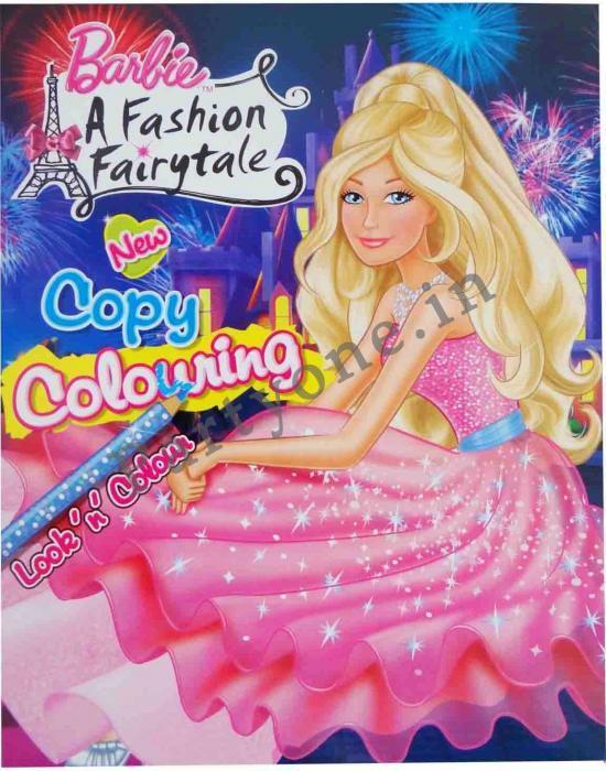 Barbie A Fashion Fairytale Copy Colouring Book