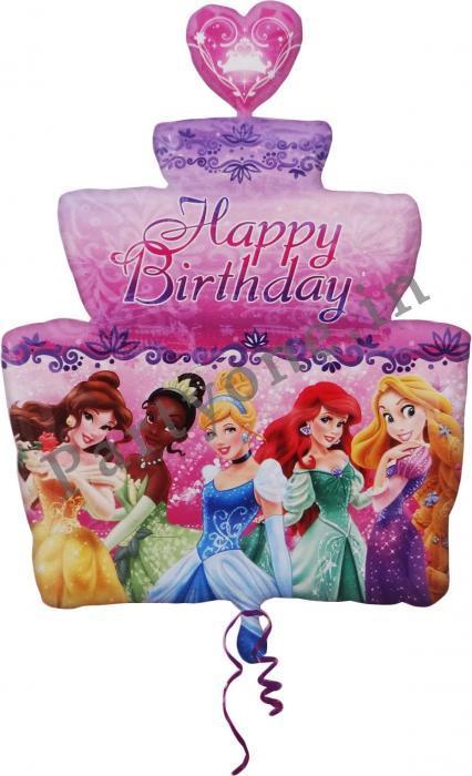 Birthday Party Supplies Disney Princess Super 3 Tier Cake Shape Foil Balloons