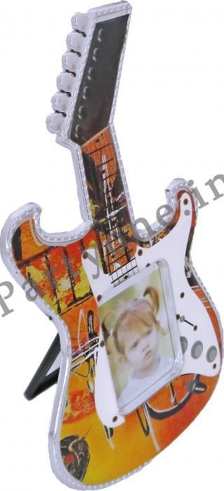 guitar shaped photo frame with fridge magnet