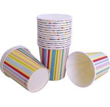 Multi Color Stripes Glass Set Of 20