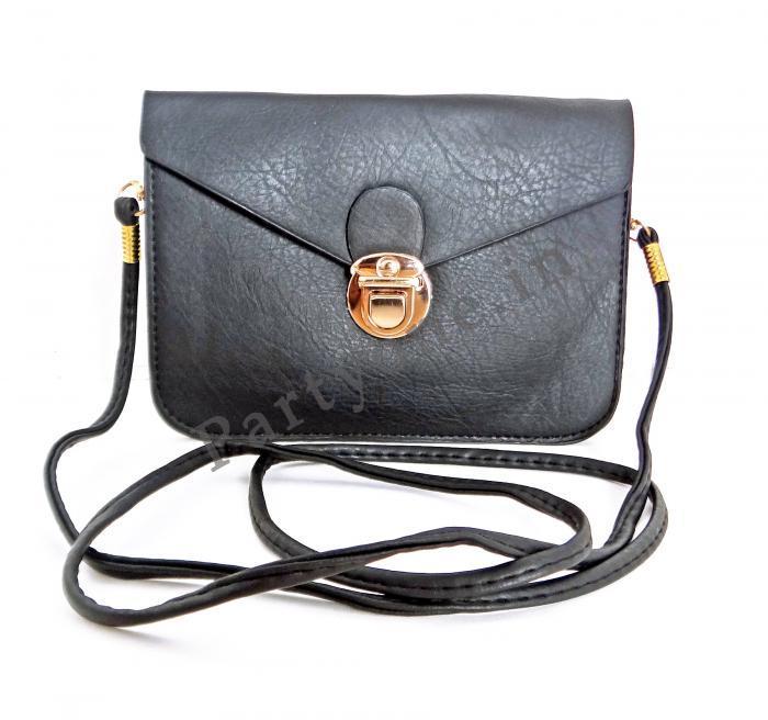 Birthday Return Gifts Girls Art Leather Sling Bag Black Assorted