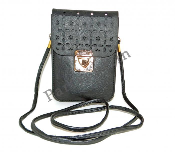 Birthday Return Gifts Girls Art Leather Stylish Cross Body Bag Black Assorted Designs