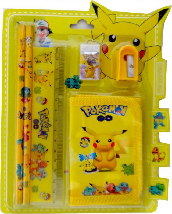 Birthday Return Gifts Pokemon Stationary Set With Wallet